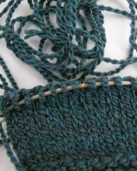 homespun knit sample