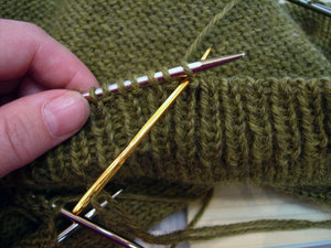 Invisible bind off