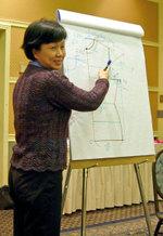 Jean explaining chart