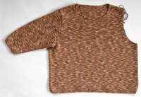 Round neck sleeve sewn