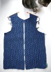 Round neck cardigan front