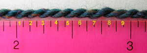 Ply with 9 twists per inch