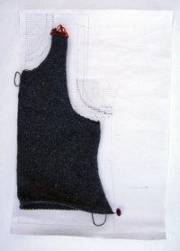 Vest: front finished