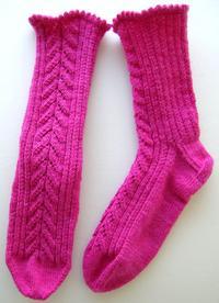 Whisper Rib & Sheperd's Lace Socks